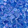Miyuki Tila Bead 5X5mm 2 Hole Capri Blue Transparent Aurora Borealis